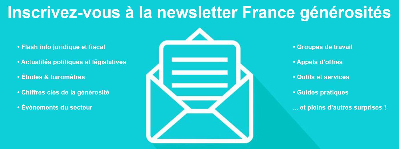 Inscription newsletter France générosités