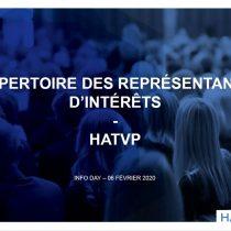 Avez-vous fait votre déclaration en tant que représentants d'intérêts à l'HATVP?