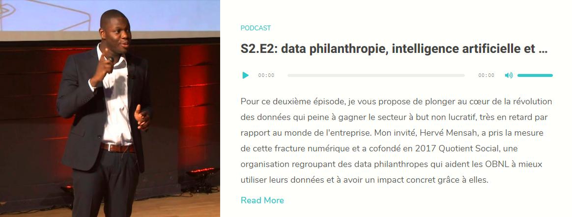 data philanthropie