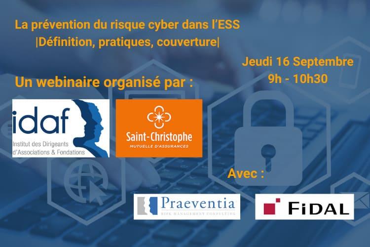 La prévention du risque cyber dans l'ESS - 16 septembre 2021 - IDAF