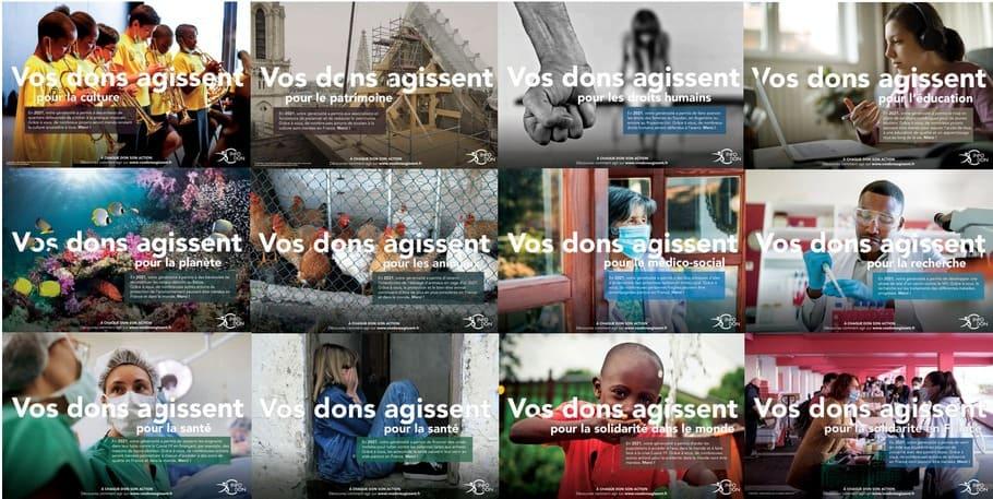 Visuels de campagnes - Vos Dons Agissent 2021