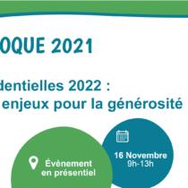 Colloque France générosités 2021 – Inscriptions ouvertes !