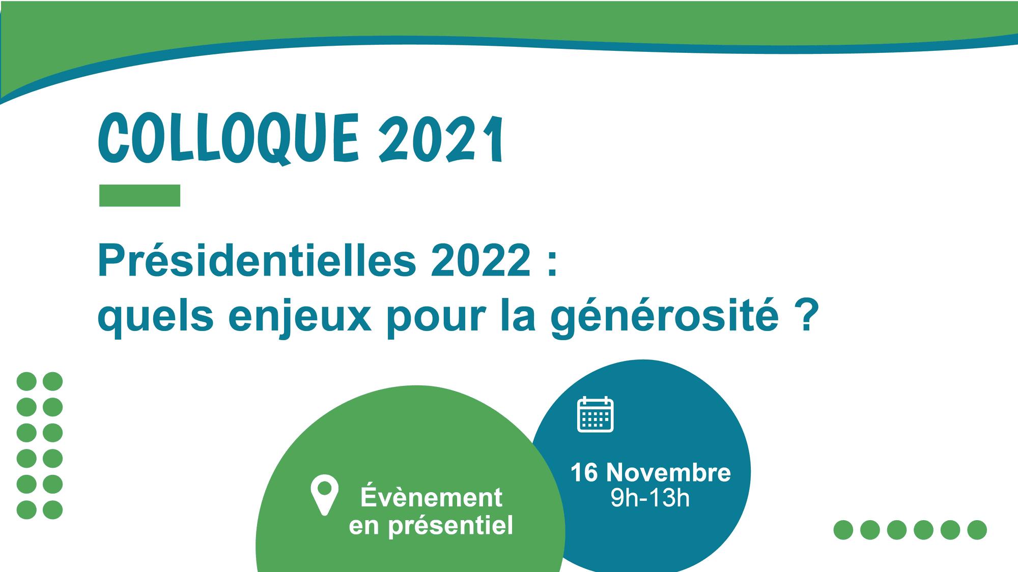 colloque 2021 présidentielles 2022 enjeux de la générosité